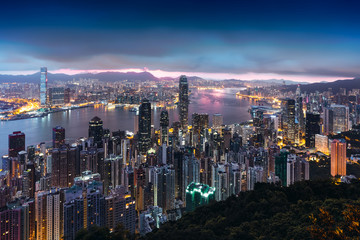 Hong Kong Sunrise, View from The peak, Hong Kong