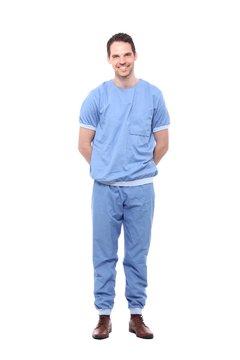 Full body healthcare man