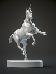 a beautyful ceramic unicorn figure