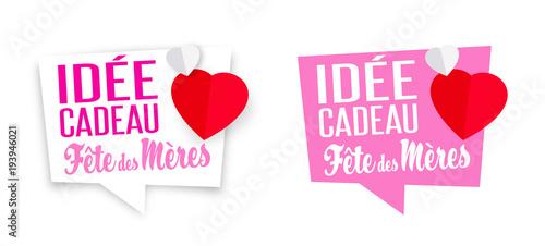 Idée Cadeau Fête Des Mères Fichier Vectoriel Libre De