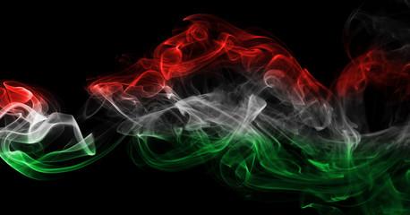 Hungary flag smoke