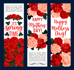 Vector springtime or Mother day floral banners