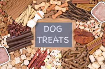 Plenty of dog treats, top view