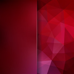 Abstract polygonal vector background. red geometric vector illustration. Creative design template. Abstract vector background for use in design. Red, brown colors.