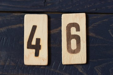 Old retro numbers 46