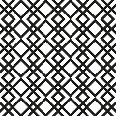 Seamless Vector Pattern. Black and white striped Background.