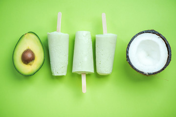 Avocado and coconut dieting popsicles