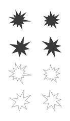 splash star icon set