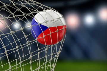 Czech soccerball in net