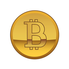 This is a bitcoin golden currency symbol