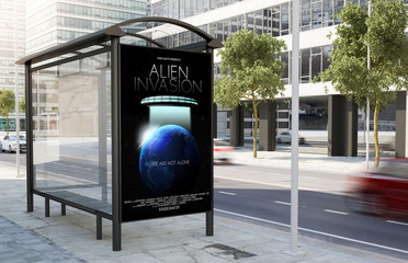 bus stop movie poster billboard