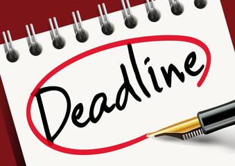 deadline - limite - date limite - délai - stress -agenda - objectif - challenge - compte à rebours
