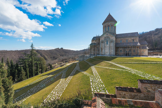 Saint Nino Bodbe Monastery is a Georgian Orthodox monastic complex and the seat of the Bishops of Bodbe near Sighnaghi, Georgia.