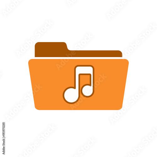 Audio folder media music note player sound icon