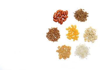 rice buckwheat beans pasta