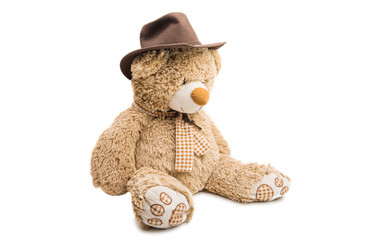Big Bear soft toy isolated