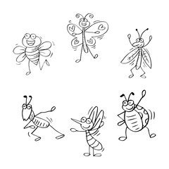 Cartoon of insects