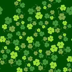 Vector illustration of Patricks Day seamless pattern background