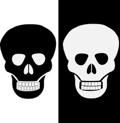 sign of danger to life. skull and crossbones