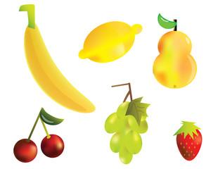 Fruit set. Vector illustration