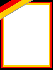 German abstract flag frame with empty space for text.