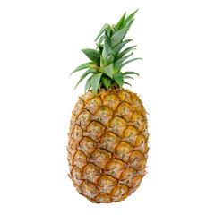 Pineapple on isolated white background. Food and vegetable concept. Clipping path use