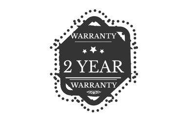2 years warranty icon vintage rubber stamp guarantee