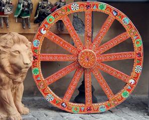 Italy, Sicily: Ancient Sicilian wheel.