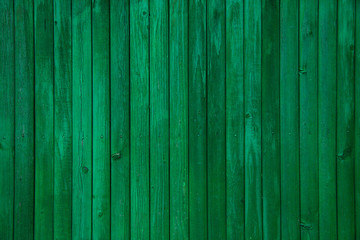 Vintage green painted old wood plank texture Fotoväggar