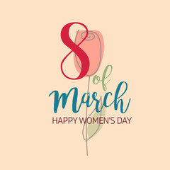 Vector Illustration of a Women's Day card.
