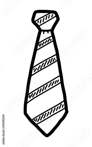 quotnecktie cartoon vector and illustration black and white