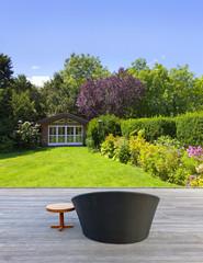 Schöne Gartenterrasse