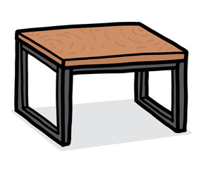 wooden table / cartoon vector and illustration, hand drawn style, isolated on white background.