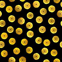 Sequins pattern. Seamless illustration. Fabric design. Rhinestones. 3d illustration. Fashion embroidery. Sequin pattern. Golden glitter. Digital image.