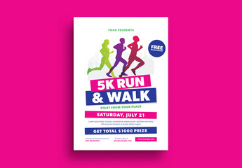 5K Run Event Flyer Layout 1