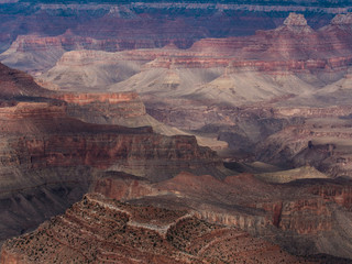Shadows of Clouds over Rocky Grand Canyon Landscape