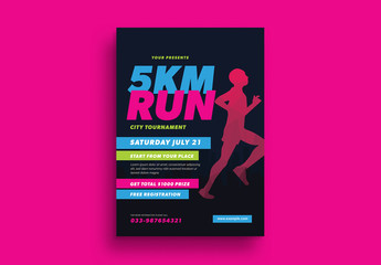 5k Run Event Flyer Layout