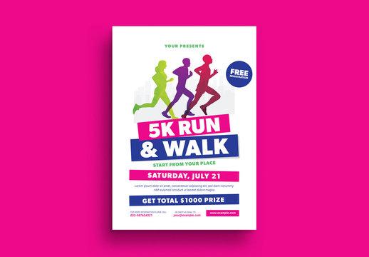 5K Run Event Flyer Layout 1