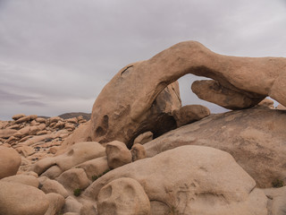 Arch Rock, Joshua Tree National Park, California Desert Landscape
