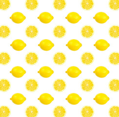 Fresh yellow lemon photographic pattern