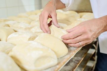 moulding the dough