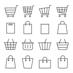 Shopping cart and bag set