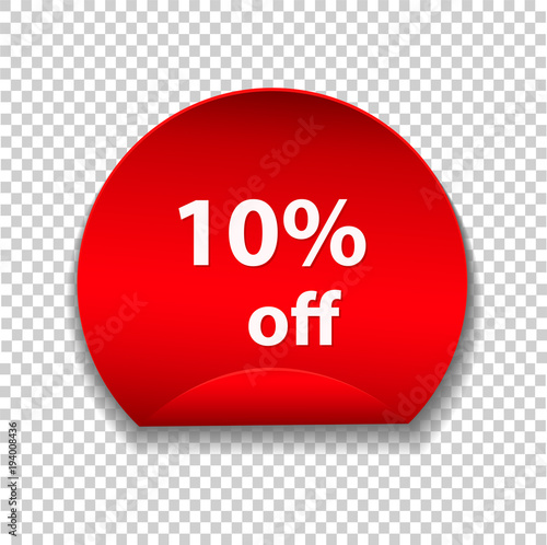 tag discount sticker isolated on transparent background vector