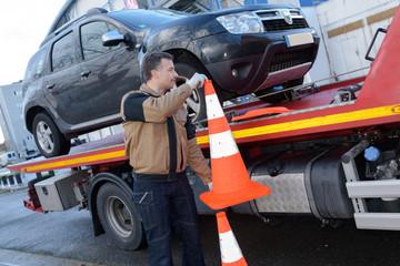 hauling a car