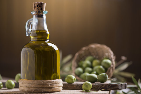 Bottle of extra virgin olive oil