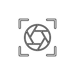diaphragm icon.Element of popular camera icon. Premium quality graphic design. Signs, symbols collection icon for websites, web design,