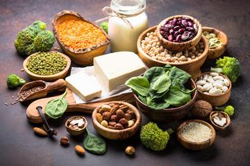 Vegan protein source. Vegetarian food.