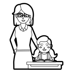 Teacher and girl design