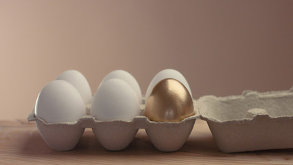 open eggs pack with 5 white and one golden egg and take the golden one