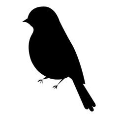 beautiful bird silhouette decorative icon vector illustration design